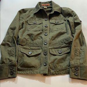 J crew army green jacket XS